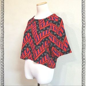 NWT Geometric Pattern Crop Top - Night Out